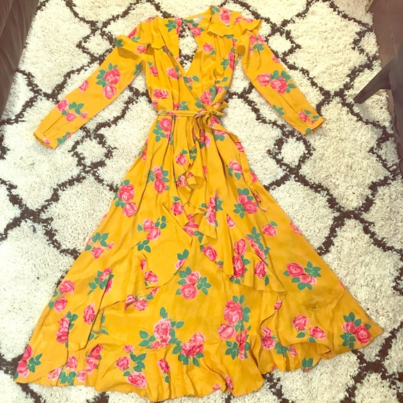 32f0a00ac44c ASOS Dresses & Skirts - ASOS Long Sleeve Wrap Maxi Dress in Bold Floral